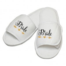 Personalised embroidery Bride Arrow Design slipper