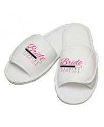 Personalised Bride Loading custom text embroidery on slippers