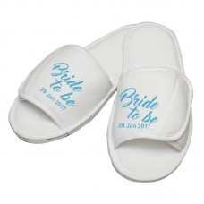 Personalised embroidery Bride to be custom text slipper