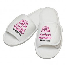 Personalised embroidery I Cant Keep Calm slipper