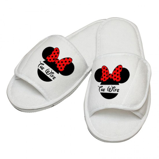Personalised embroidery MINNIE slipper