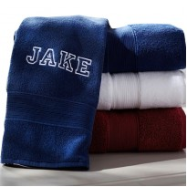 A Personalised Towels VARSITY font custom name text Embroidery