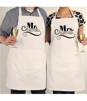Couples Mr and Mrs Personalised Apron