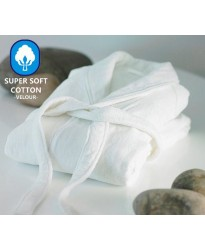 A Classic Luxury Velour Cotton Bathrobe