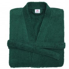Terry Kimono Dark Green Bathrobe