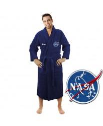 A Astronaut logo with Custom TEXT Embroidery on TERRY bathrobe