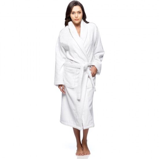 Personalised Terry Bathrobe with BACK Text Embroidery