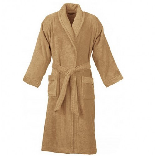 terry beige bathrobe. Black Bedroom Furniture Sets. Home Design Ideas