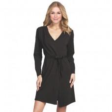 Black Jersey lightweight kimono robe
