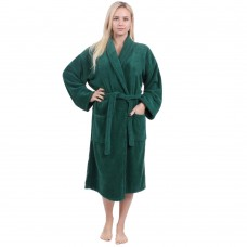 Terry Dark Green Bathrobe