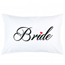 Bride With Heart Wedding Printed Pillowcase Covers