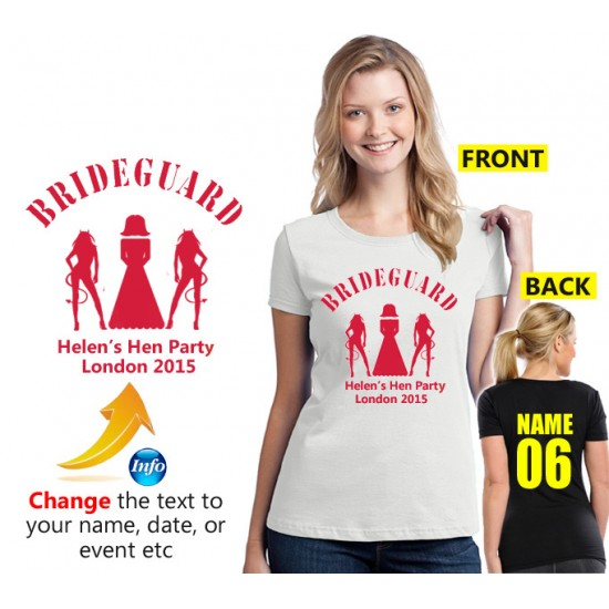 Hen party Brideguard & Bridesmaid T shirt