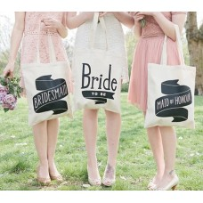 3 optional brides made tote bags