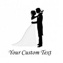 Bride & groom logo Embroidery Bathrobe WHITE