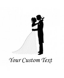 Bride & groom logo Embroidery Bathrobe WHITE