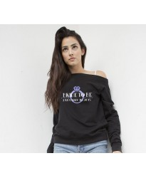 Bridal Customised Wedding Sweatshirt in Black