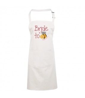 Cool bride to bee design on Apron