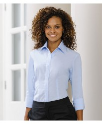 Personalised Corporate Shirt 953F Ladies 3/4 Sleeve Russell 130 GSM