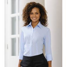 Personalised Corporate Shirt 953F Ladies 3/4 Sleeve Russell 130 GSM