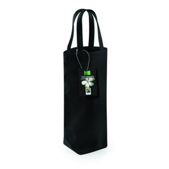 Personalised Bottle Bag W620 Fairtrade Cotton Westford Mill 407 GSM
