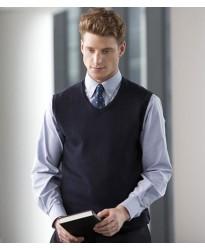 Personalised Lightweight Sleeveless V Neck Sweater H724 Henbury