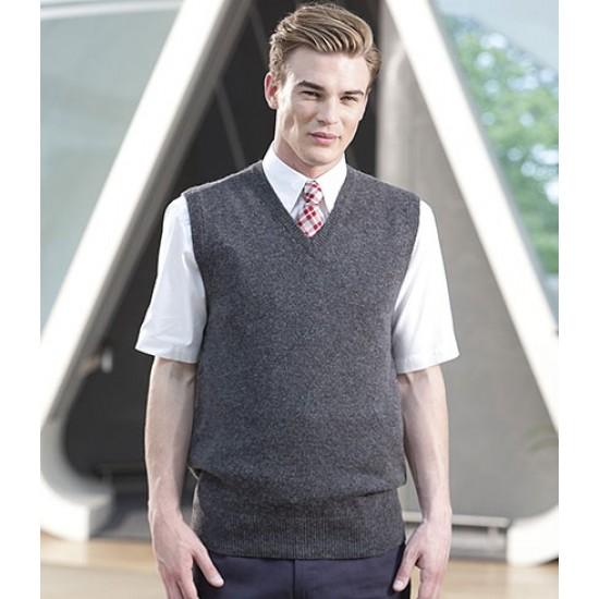 Personalised Lambswool Sleeveless V Neck Sweater H731 Henbury