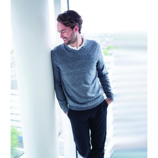 Personalised V Neck Marl Sweater H780 Henbury