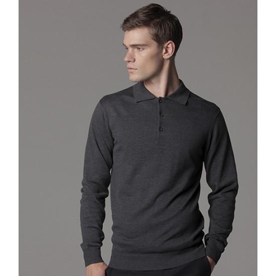 Personalised Long Sleeve Arundel Knitted Polo K356 Kustom Kit