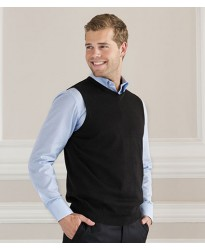 Personalised Sleeveless V Neck Sweater 716M Russell 275 GSM