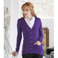 Personalised Ladies V Neck Cardigan H723 Henbury