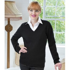Personalised Ladies Lambswool V Neck Sweater H732 Henbury