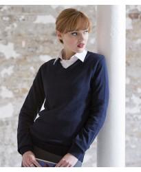 Personalised Ladies Acrylic V Neck Sweater H761 Henbury