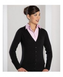 Personalised Ladies V Neck Cardigan 715F Russell