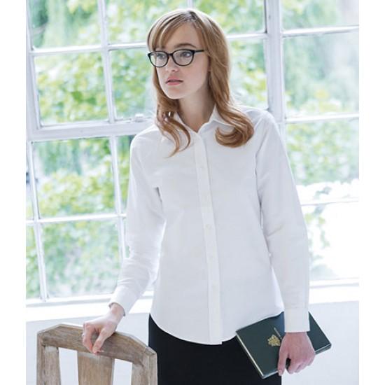 Personalised Ladies Long Sleeve Oxford Shirt H511 Henbury 170 GSM