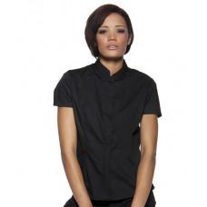 Personalised Bargear Ladies Mandarin Collar Shirt K736 Kustom Kit 120 GSM