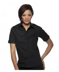 Personalised Bargear Ladies Turn Back Cuff Shirt K739 Kustom Kit 120 GSM