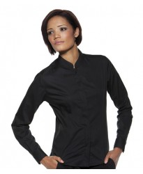 Personalised Bargear Ladies Long Sleeve Mandarin Collar Shirt K740 Kustom Kit 120 GSM
