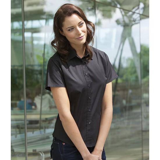 Personalised Ladies Stretch Shirt H540 Henbury 135 GSM