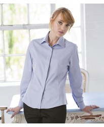 Personalised Ladies Long Sleeve Oxford Shirt H551 Henbury 130 GSM