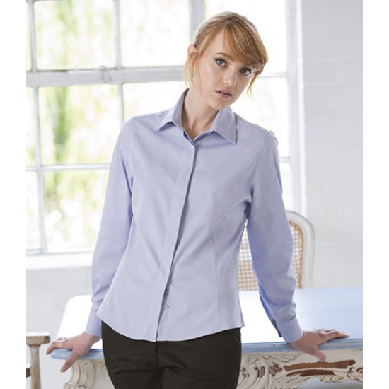 Personalised Ladies Long Sleeve Oxford Shirt H551 Henbury 130 GSM
