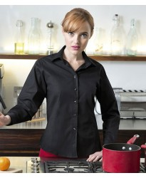 Personalised Ladies Long Sleeve Stretch Shirt H541 Henbury 135 GSM