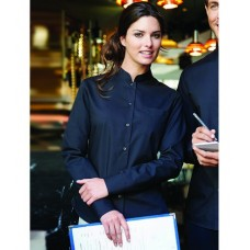 Personalised Ladies Long Sleeve Mandarin Collar Shirt KB514 Kariban 110 GSM