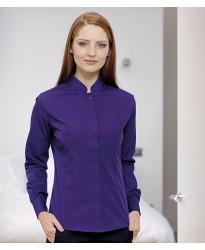 Personalised Ladies Long Sleeve Mandarin Collar Shirt K261 Kariban 115 GSM