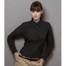 Personalised Ladies Long Sleeve Workwear Oxford Shirt K361 Kustom Kit 135 GSM