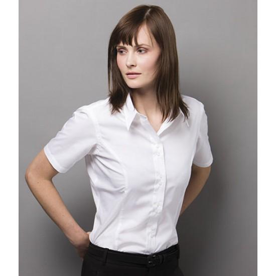 Personalised Ladies City Business Shirt K387 Kustom Kit White 120 gsm Cols 125 GSM
