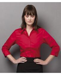 Personalised Ladies 3/4 Sleeve Corporate Oxford Shirt K710 Kustom Kit 125 GSM