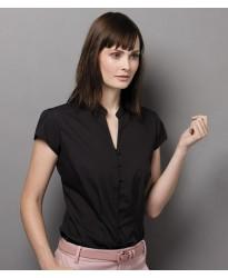 Personalised Ladies Cap Sleeve V Neck Continental Blouse K727 Kustom Kit 115 GSM