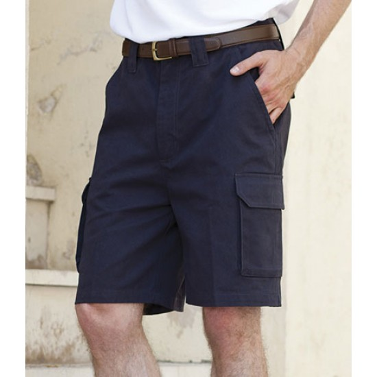 Personalised Cargo Shorts H625 Henbury 100% cotton twill.. GSM