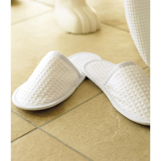 Personalised Waffle Mule Slippers TC66 Towel City 220 GSM