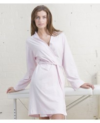 Personalised Ladies Cotton Wrap Robe TC50 Towel City 180 GSM